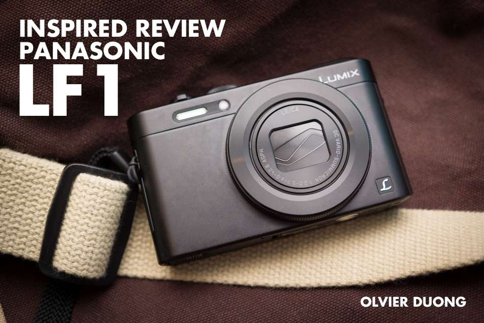 The Panasonic LF1 camera with a bag in the background