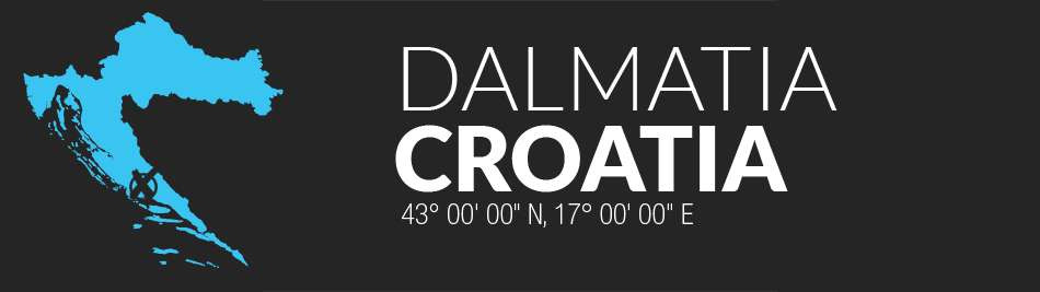 dalmatia-croatia-map