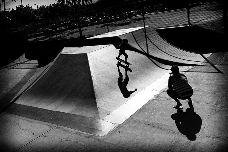 Five year-old rides the half-pipes, Maui, Hawaii 2014
