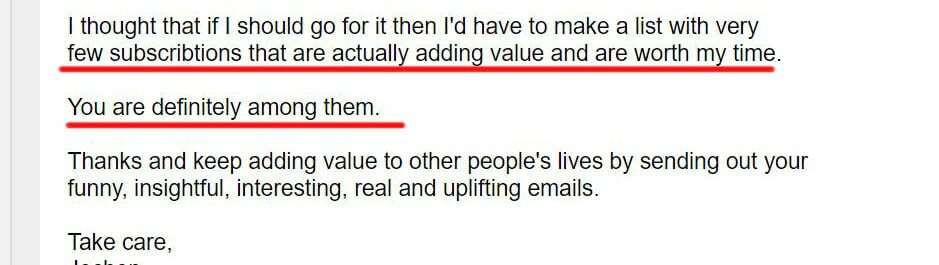 email testimonial 2