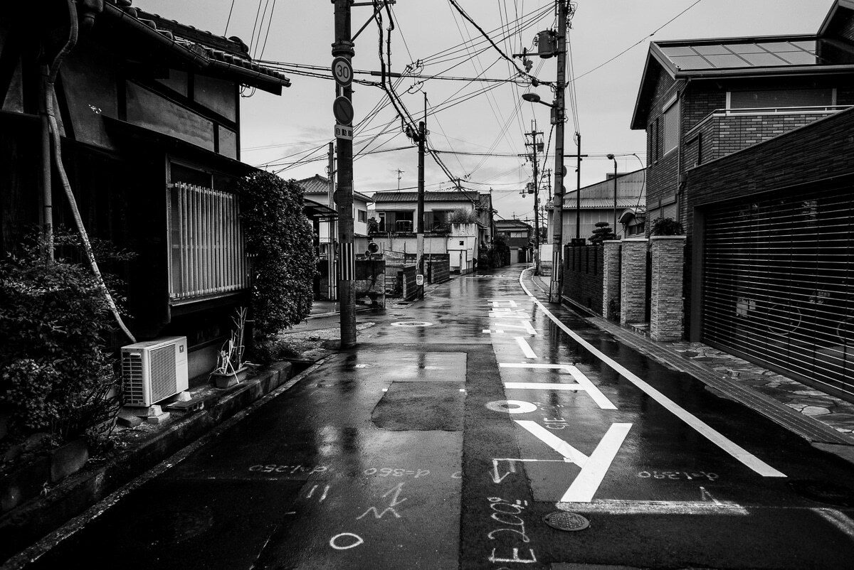 street scene in japan without humans