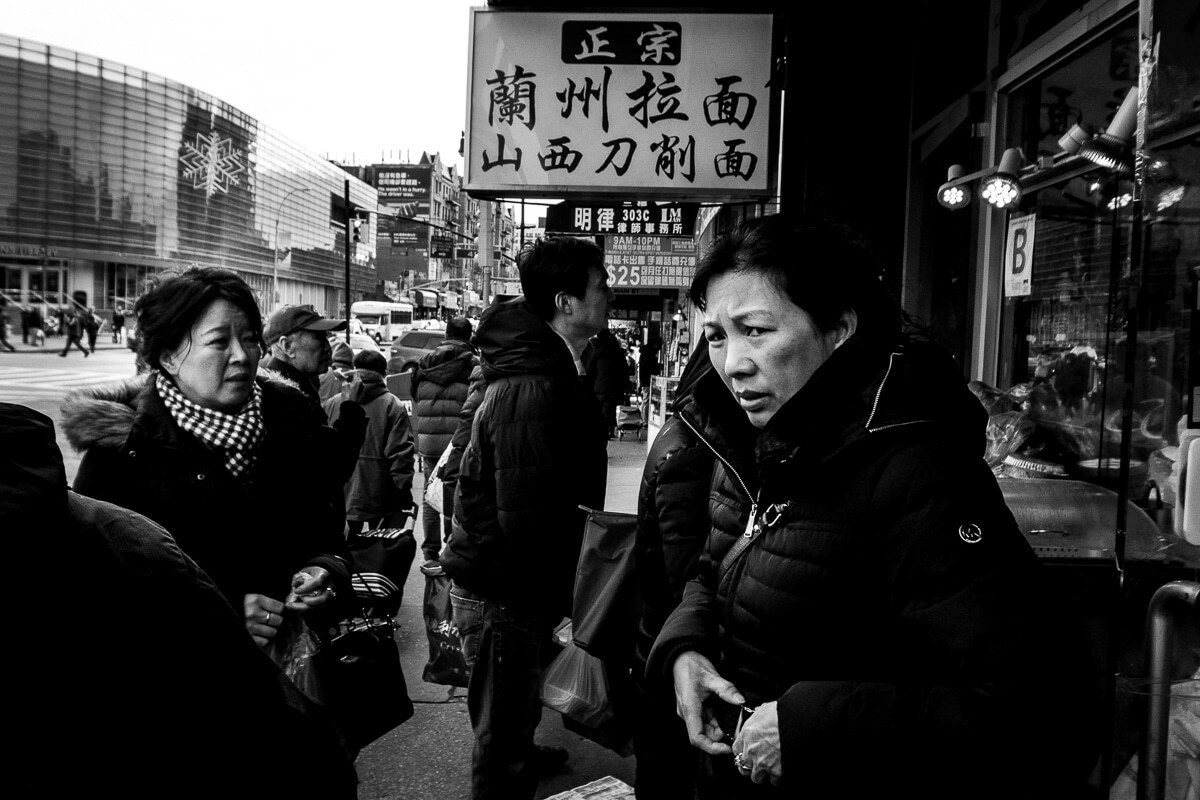 Street photograph made with a mirrorless camera
