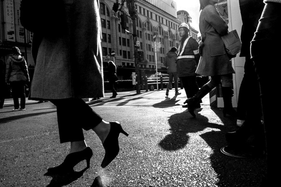 street photography example with shoes