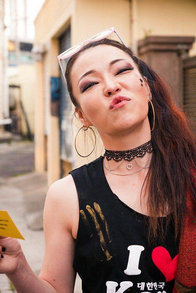 color street photography portrait in Jeju, Korea