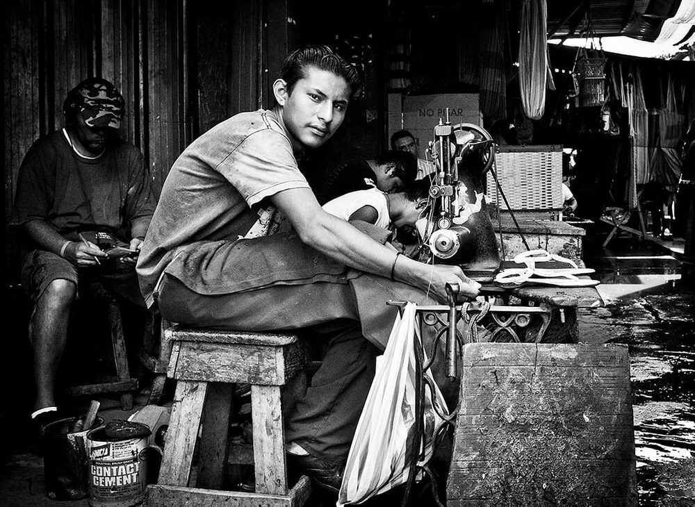 street photography portrait of a man in Nicaragua