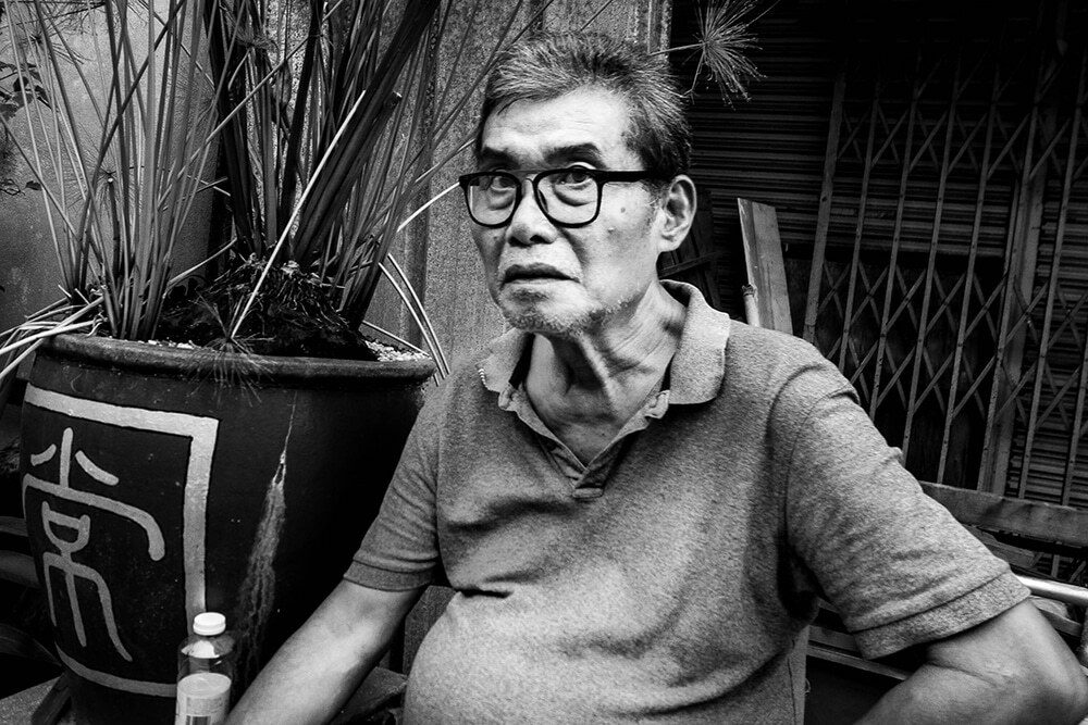 portrait of a man in Penang, Malaysia