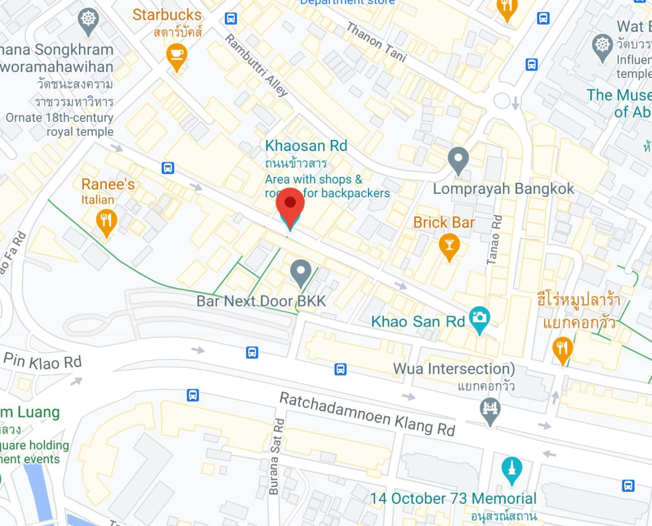 khao san road location